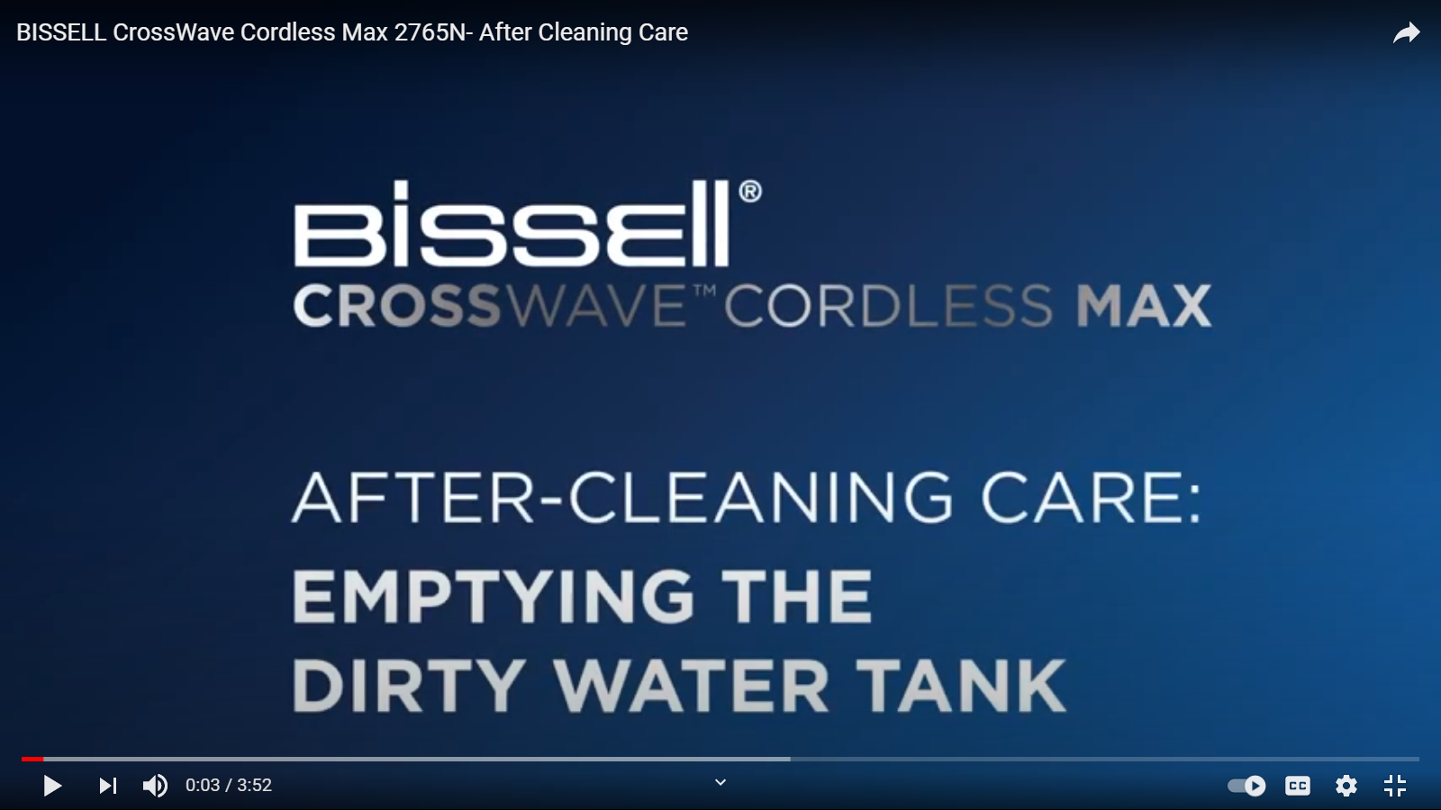 How to take care of your CrossWave Cordless Max after cleaning