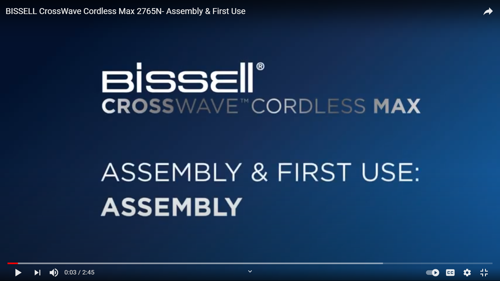 How to assemble and use for the first time your CrossWave Cordless Max