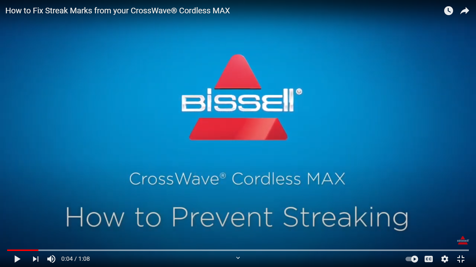 What to do if your CrossWave Cordless Max leaves streak marks on the floor