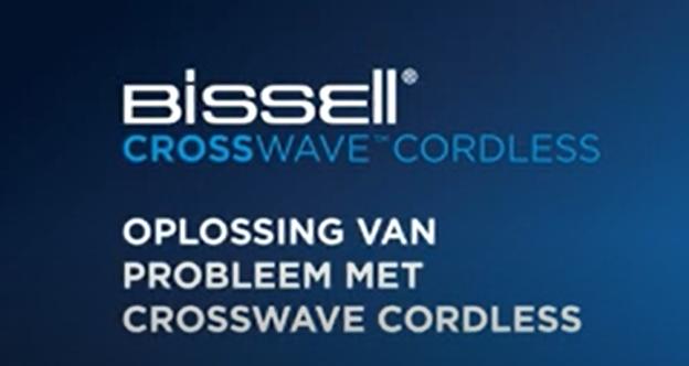 Wat te doen als uw CrossWave Cordless strepen achterlaat