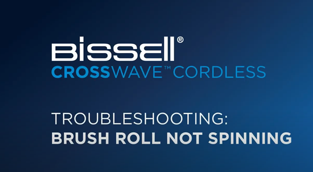 What to do when the brush roll on your CrossWave cordless isn't spinning