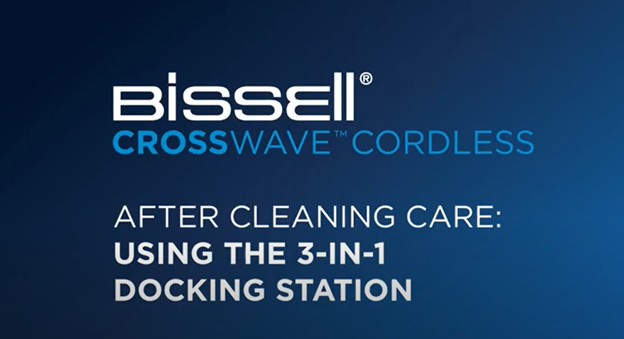 How to use the docking station to clean your CrossWave Cordless