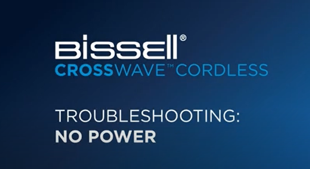 What to do when your CrossWave Cordless has no power