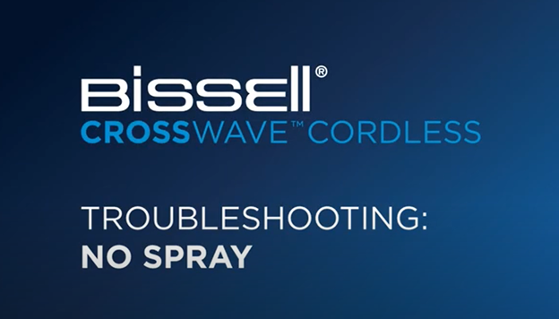 What to do when your CrossWave Cordless doesn't spray