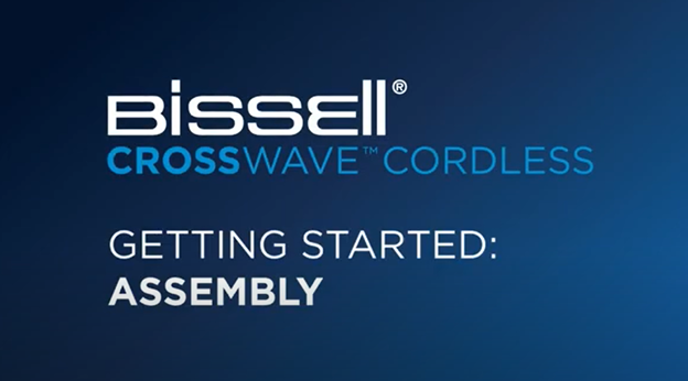 First time setup of the CrossWave Cordless