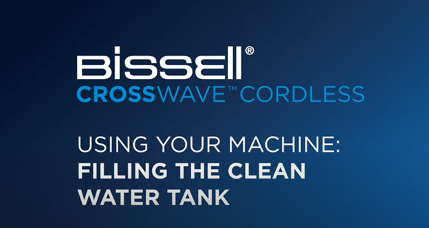 How to fill the clean water tank of your CrossWave Cordless