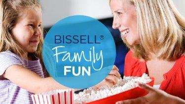 Family fun: movie night in
